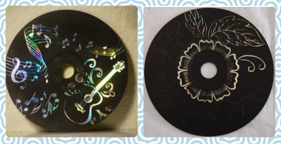 Crafternoon - CD Scratch Art